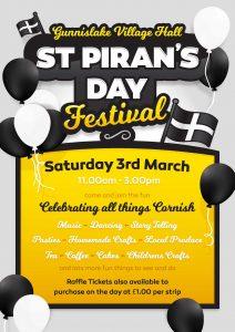 Poster for St. Pirans Day Festival