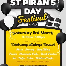 Poster for St. Pirans Day Festival