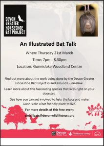 Poster advertising a talk about local bats
