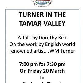 Cancelled: Turner In The Tamar – An illustrated talk
