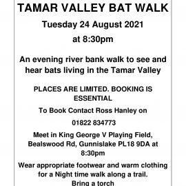 Evening Bat Walk – Tuesday 24th August 2021 at 8.30pm